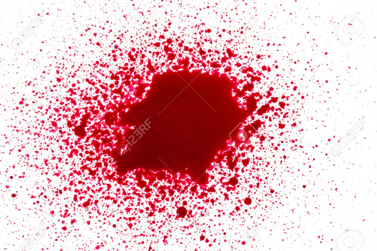 Blood Splatter Stock Photo Picture And Royalty Free Image