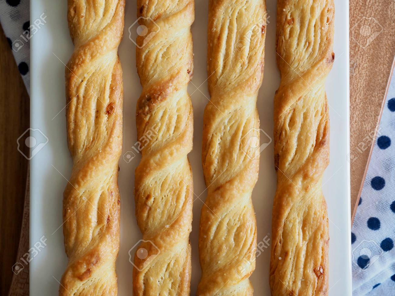 Twisted Bread Stick Cheese Stick Cookies Stock Photo Picture And Royalty Free Image Image 99970734