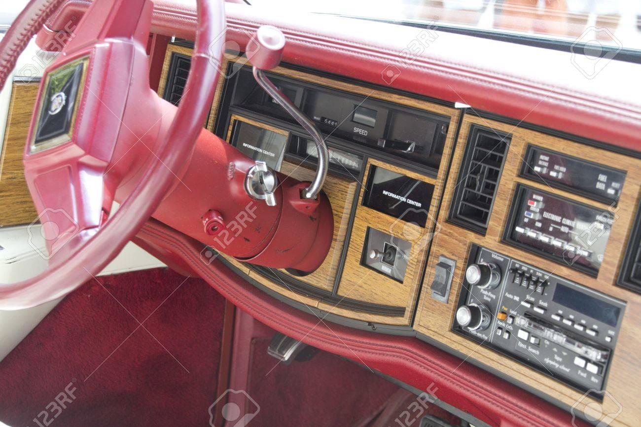 Madrid 3 Jul Party Old Classic Car Cadillac Eldorado 1976 Stock