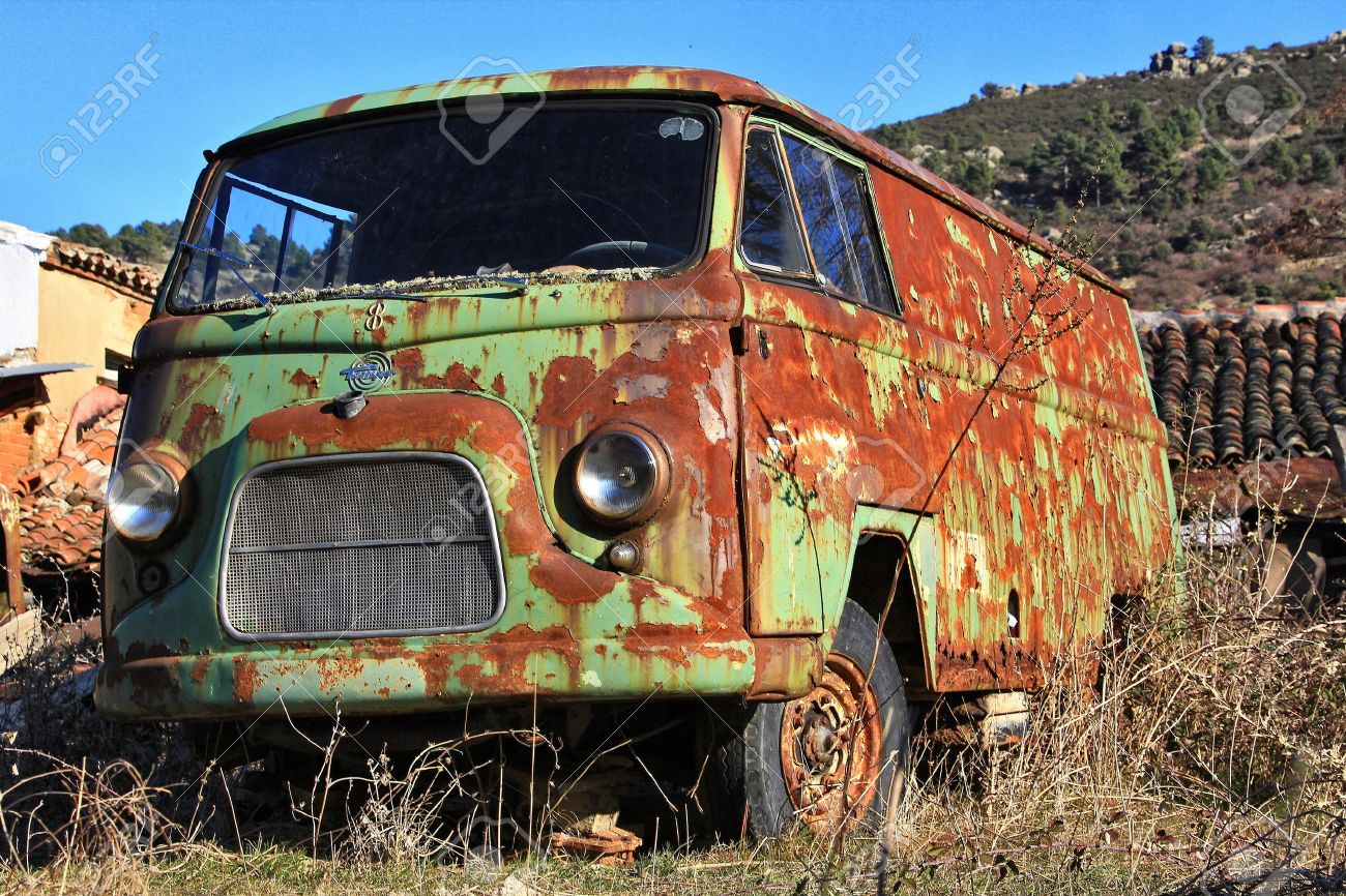 Old Green Van Abandoned Old Rusty Stock Photo, Picture And Royalty ...