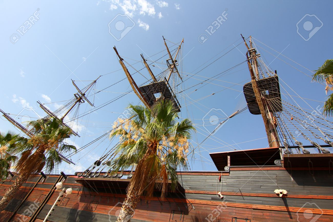 Historic and famous Spanish galleon Santisima Trinidad Stock Photo - 14568344