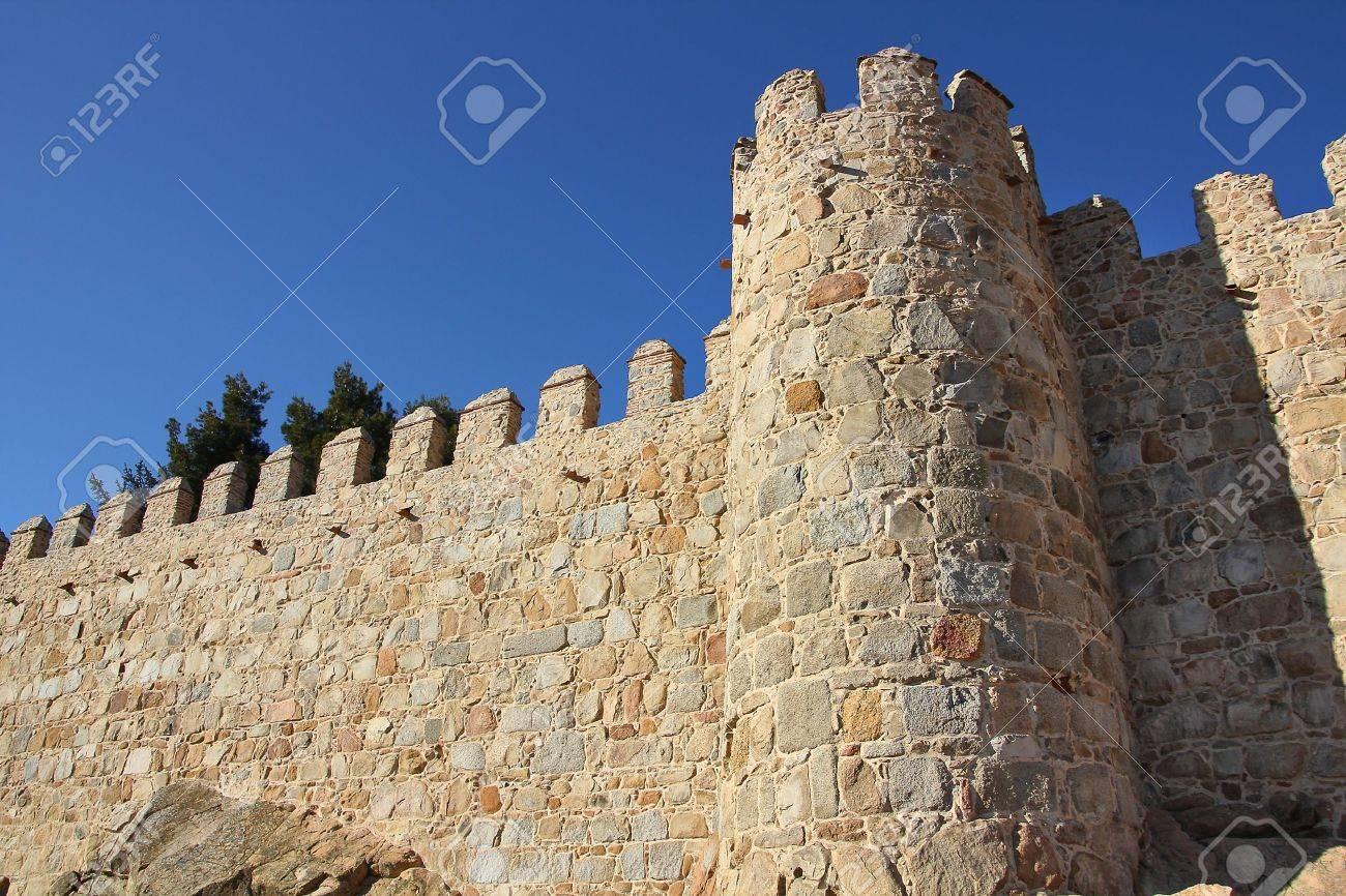 old wall surrounding the city Avila, Spain Stock Photo - 14720838
