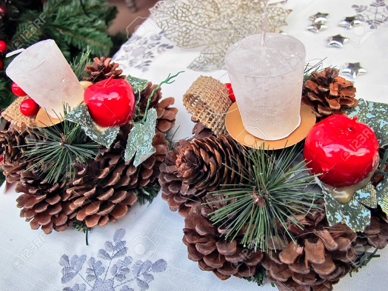 Christmas Centerpieces Stock Photo Picture And Royalty Free Image