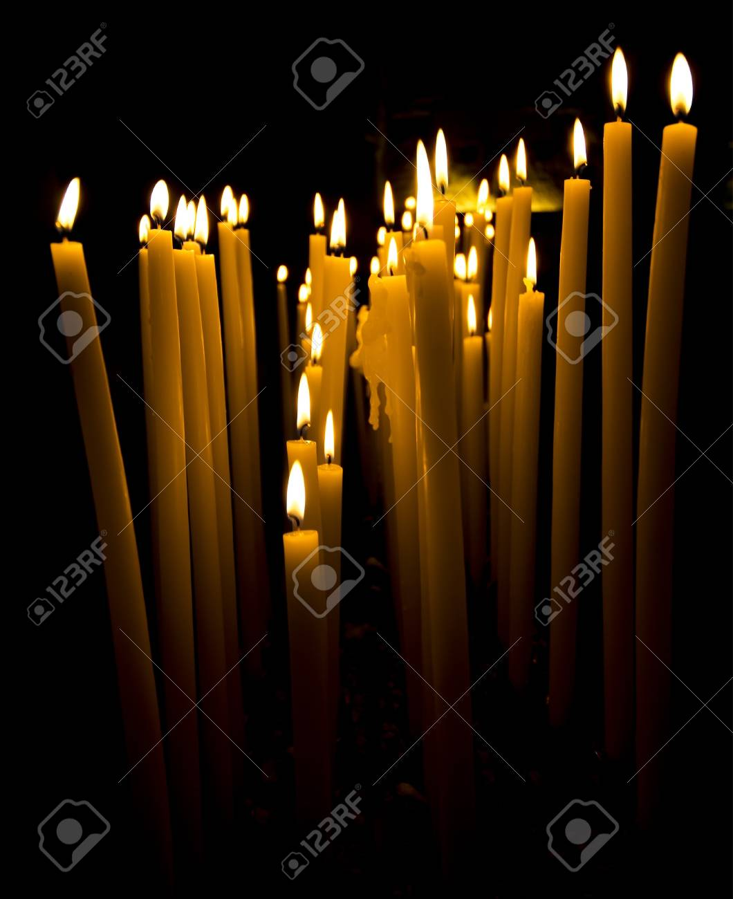 Long burning candles with mysterious aspect stock photo 17190760