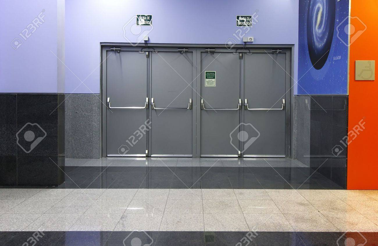 modern curation emergency exit doors Stock Photo - 17311310 & Modern Curation Emergency Exit Doors Stock Photo Picture And ... Pezcame.Com