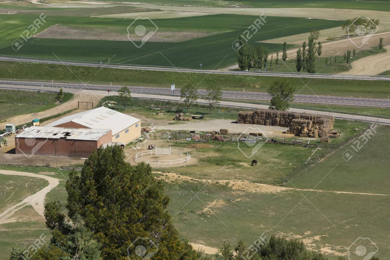 Small Farm And Horse Stables In The Field Stock Photo Picture And Royalty Free Image Image 33902191