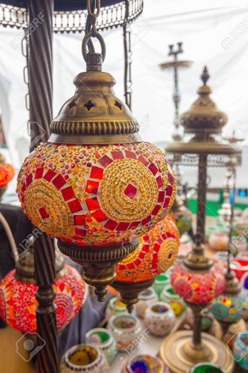 hermosos árabe estilo Lámparas de la de colores decoración de jL4Aq35R