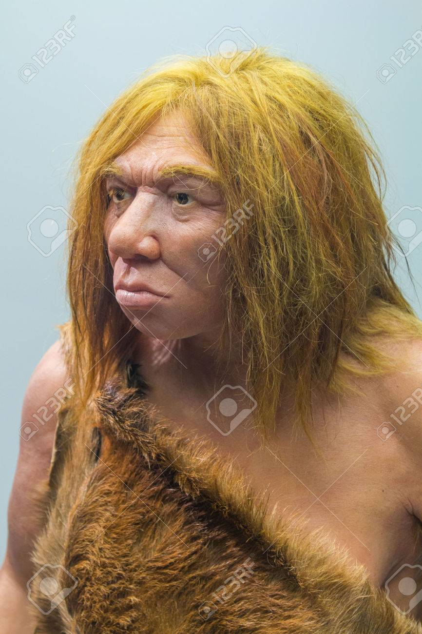 The Neanderthal with fur costume man - 53226474