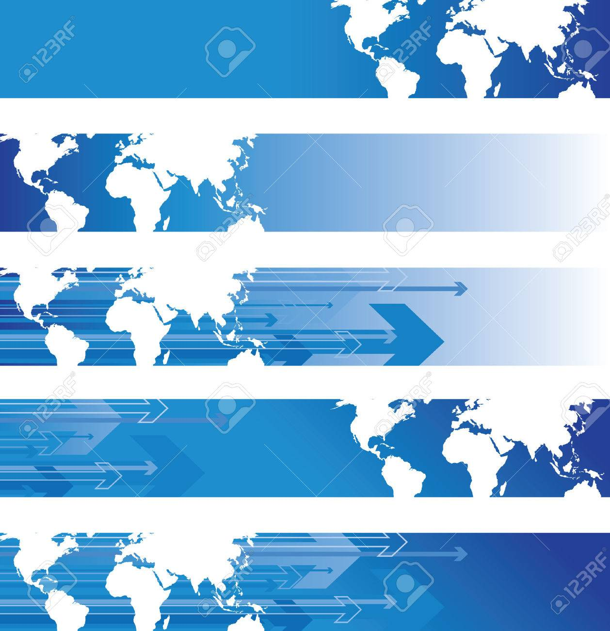 world banners Stock Vector - 7599006
