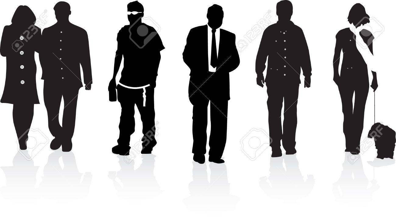 silhouettes of people Stock Vector - 7667430