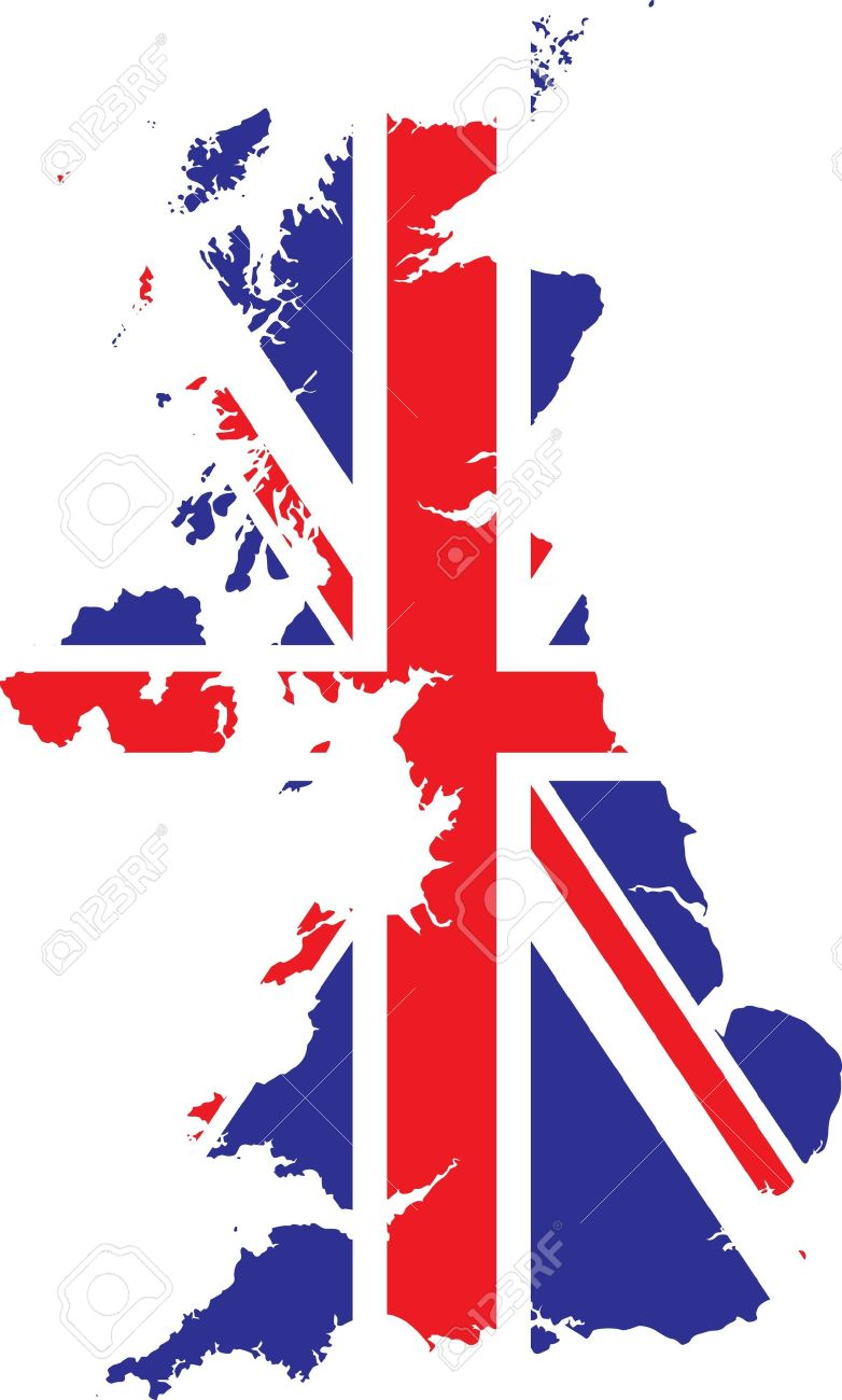 map of britain royalty free cliparts vectors and stock