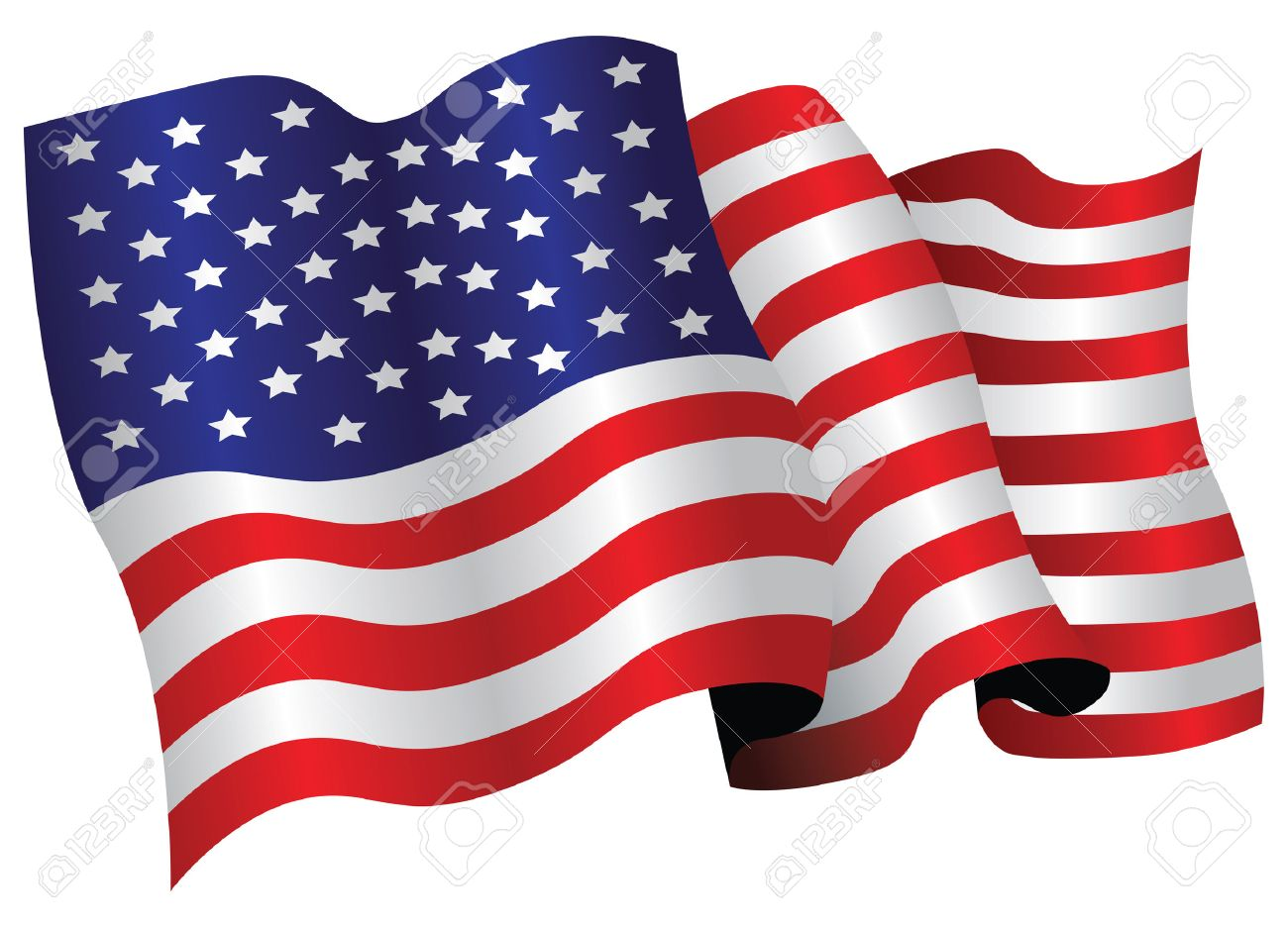 Usa Flag Royalty Free Cliparts Vectors And Stock Illustration Image 8509336