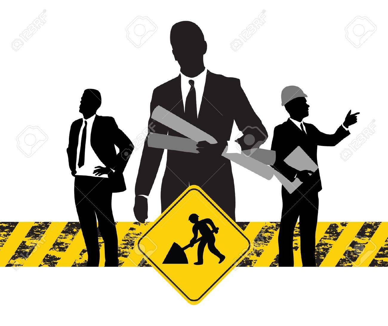 construction workers background - 9147161