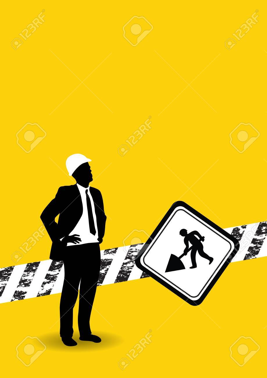 construction workers background Stock Vector - 9147166