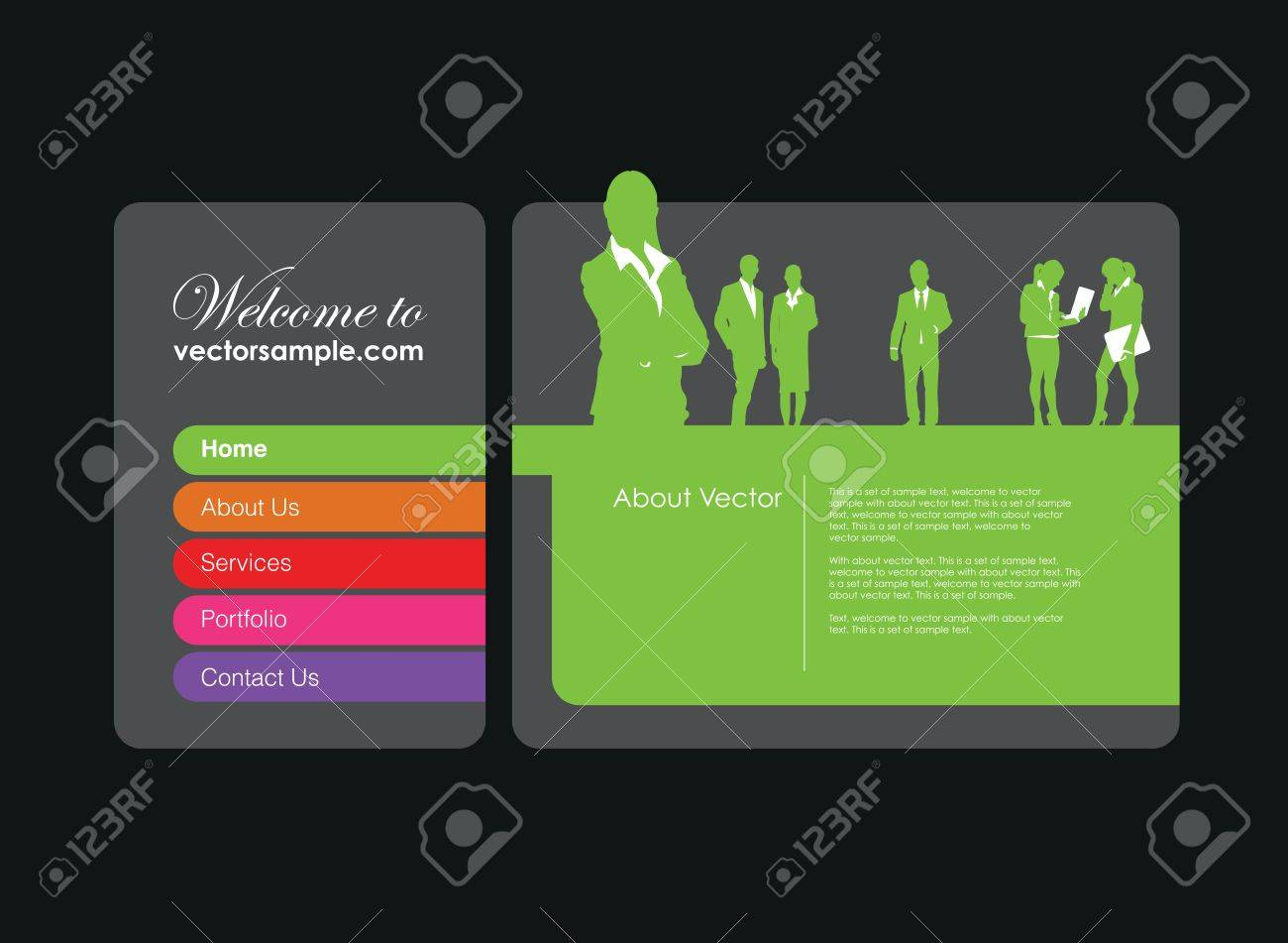a business people website banner Stock Vector - 9930943