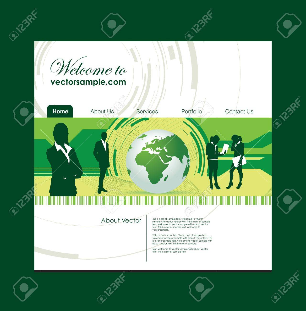 people and world website background Stock Vector - 10037628