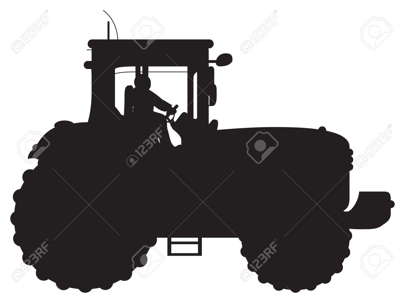 tractor silhouette Stock Vector - 10394755