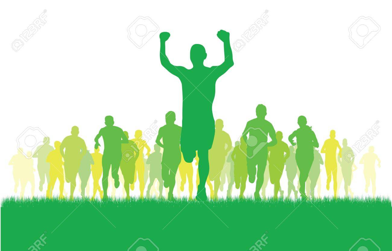 group of runners Stock Vector - 11354964