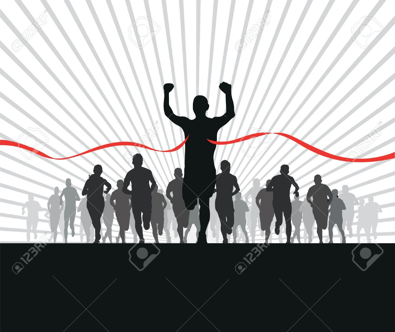 group of runners Stock Vector - 11354961
