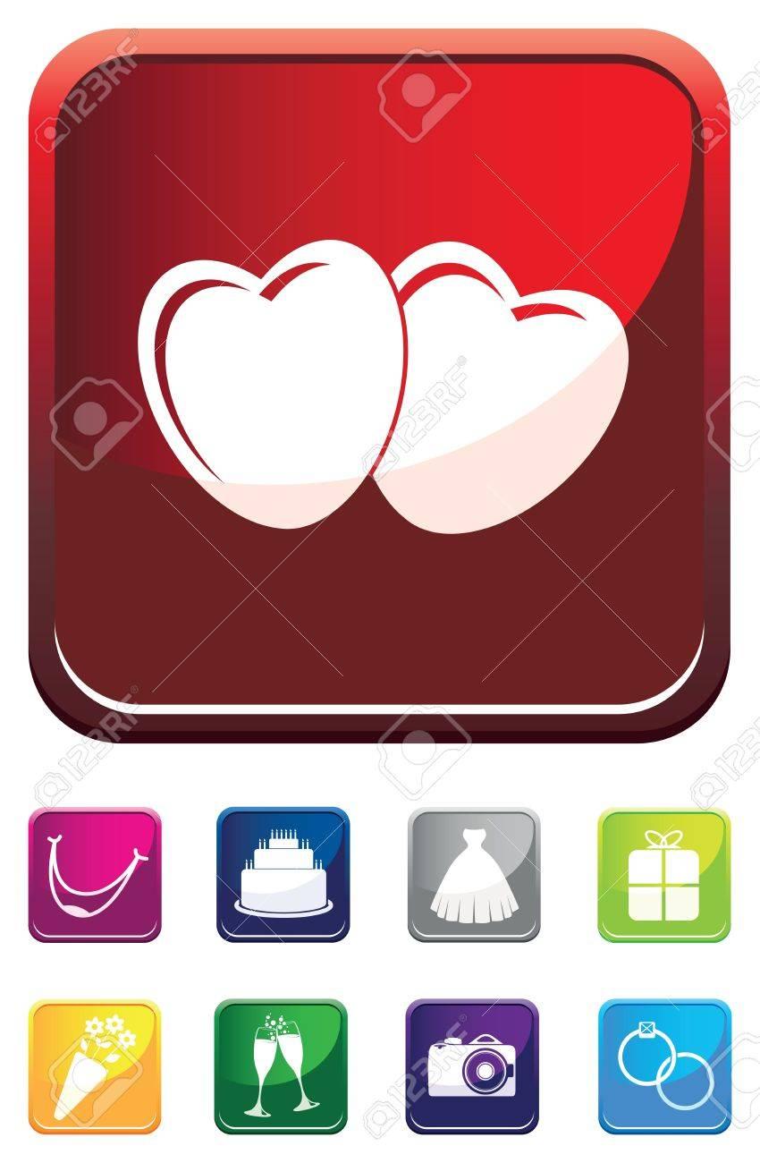 love wedding symbol Stock Vector - 12883537