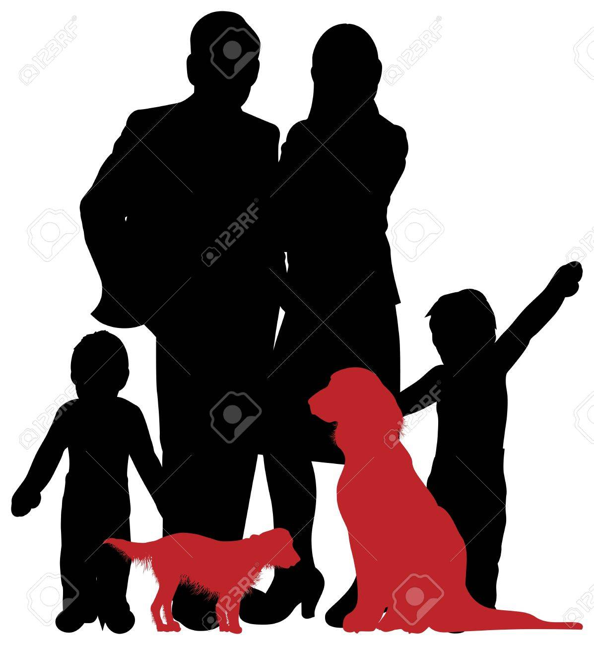 a family silhouette Stock Vector - 15502541