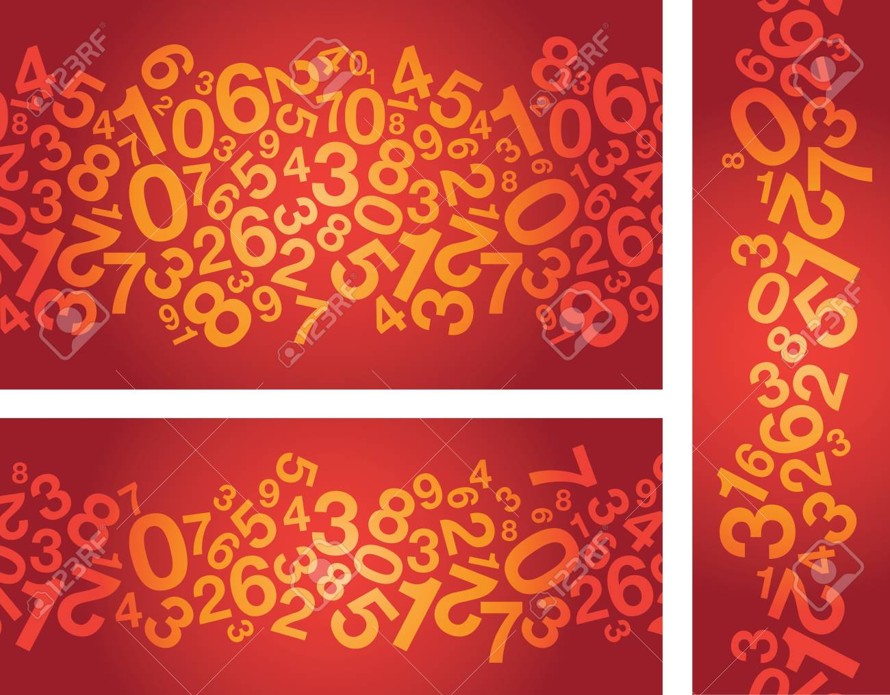 abstract red number background Stock Vector - 19089270