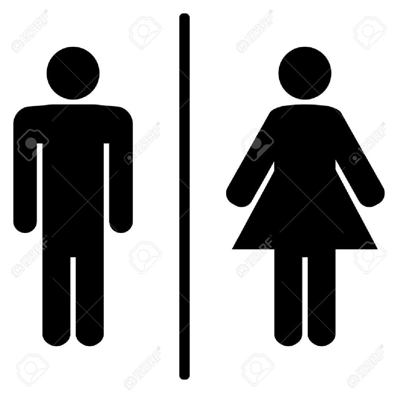 Girls bathroom sign outline - Bathroom Sign A Man And A Lady Toilet Sign