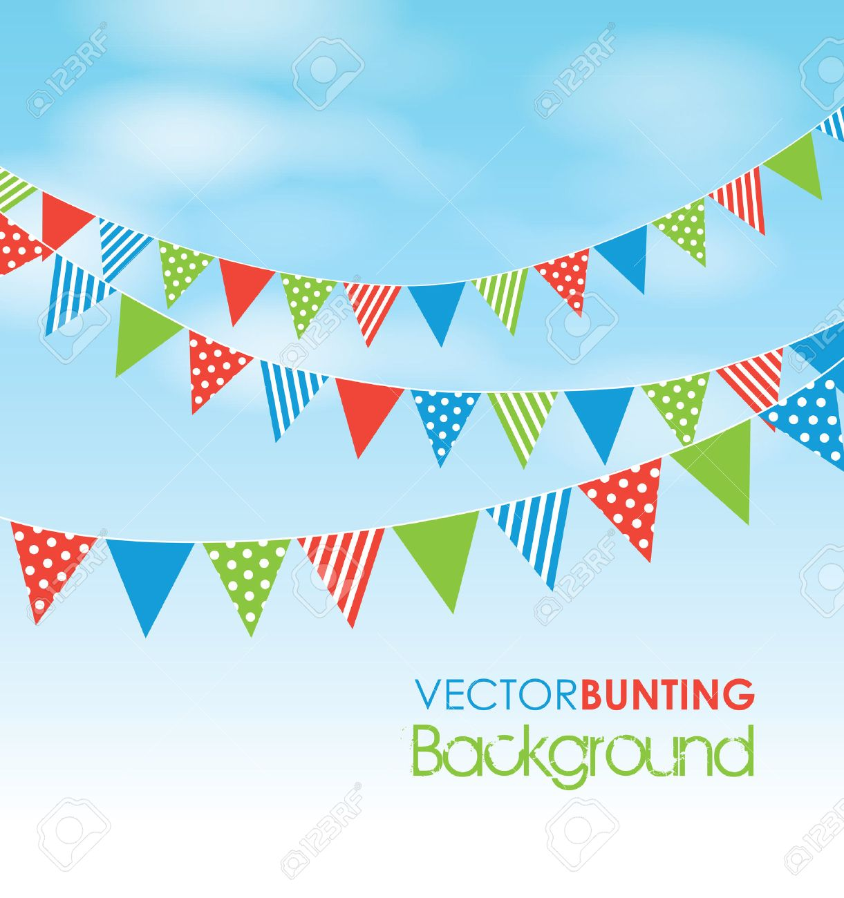 Summer Fayre Bunting Summer Fair Coloured Bunting