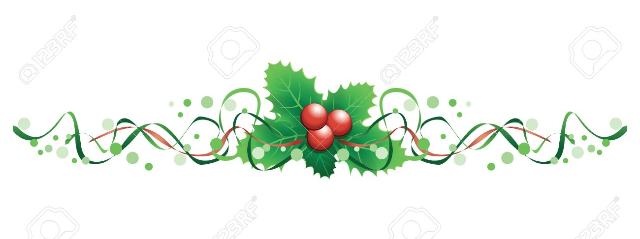 Christmas Holly Banner Royalty Free Cliparts, Vectors, And Stock  Illustration. Image 23250652.