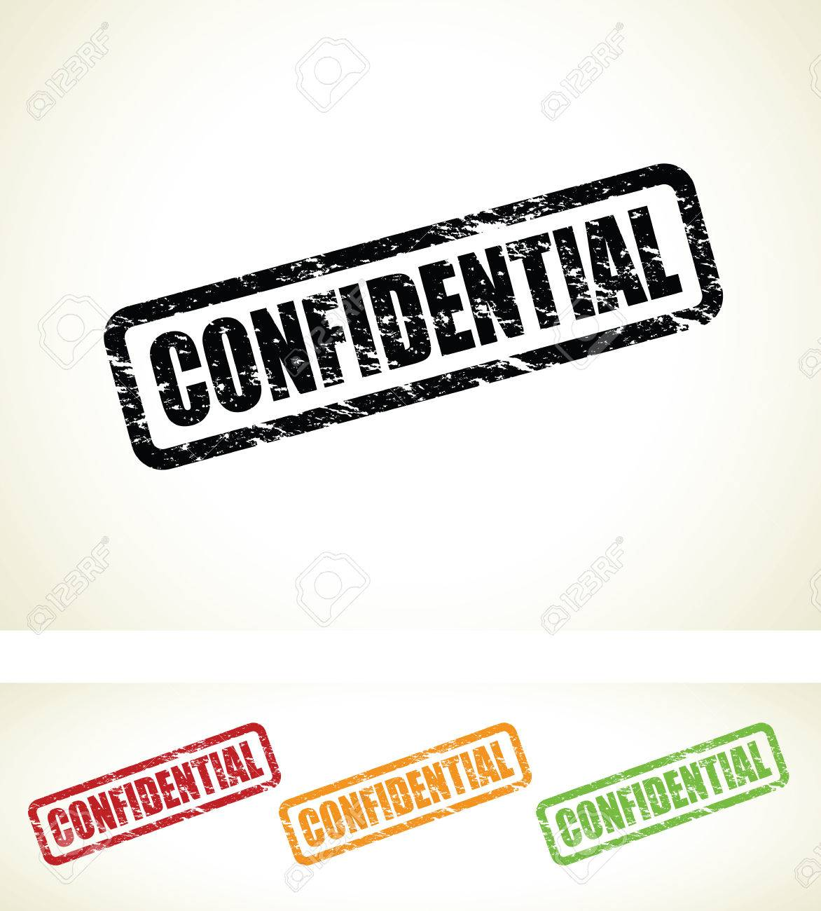 confidential stamps Stock Vector - 24348527