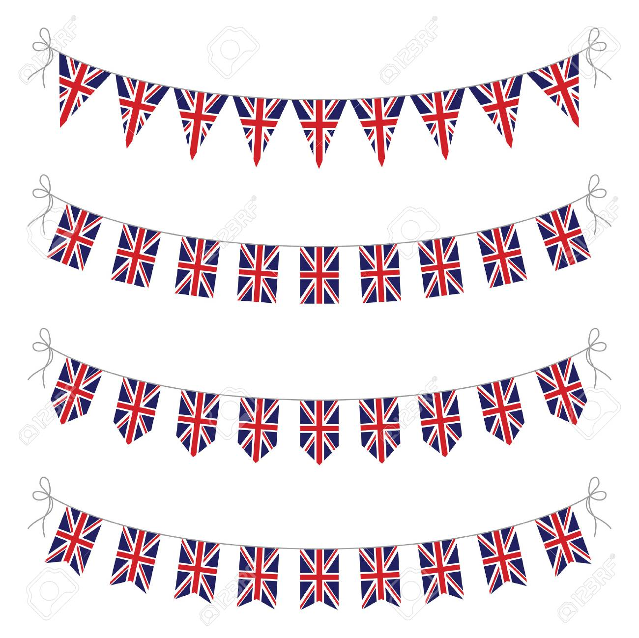 Set Of Uk Bunting Royalty Free Cliparts, Vectors, And Stock ...