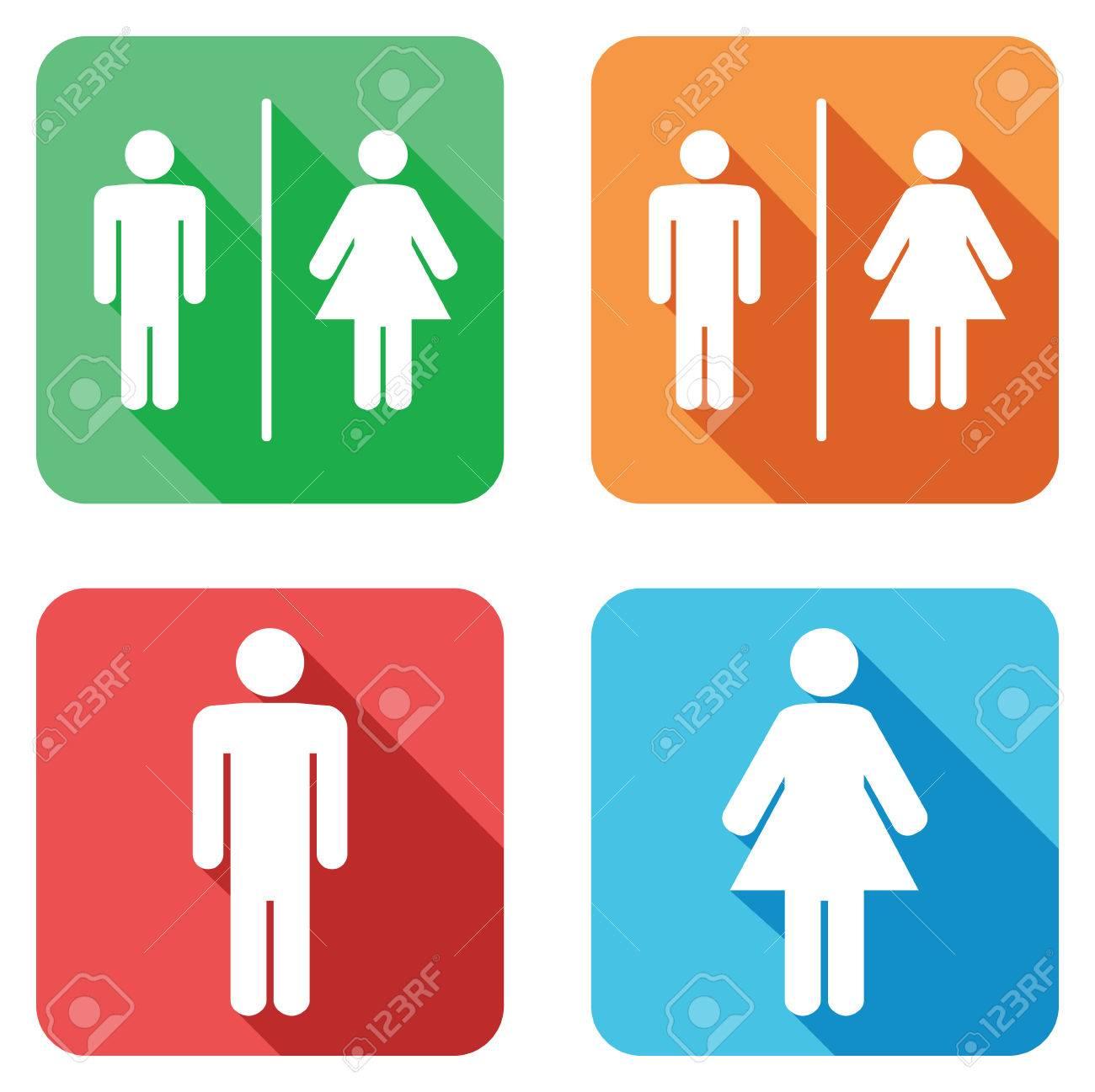 Men And Women Toilet Signs Stock Vector   31812872