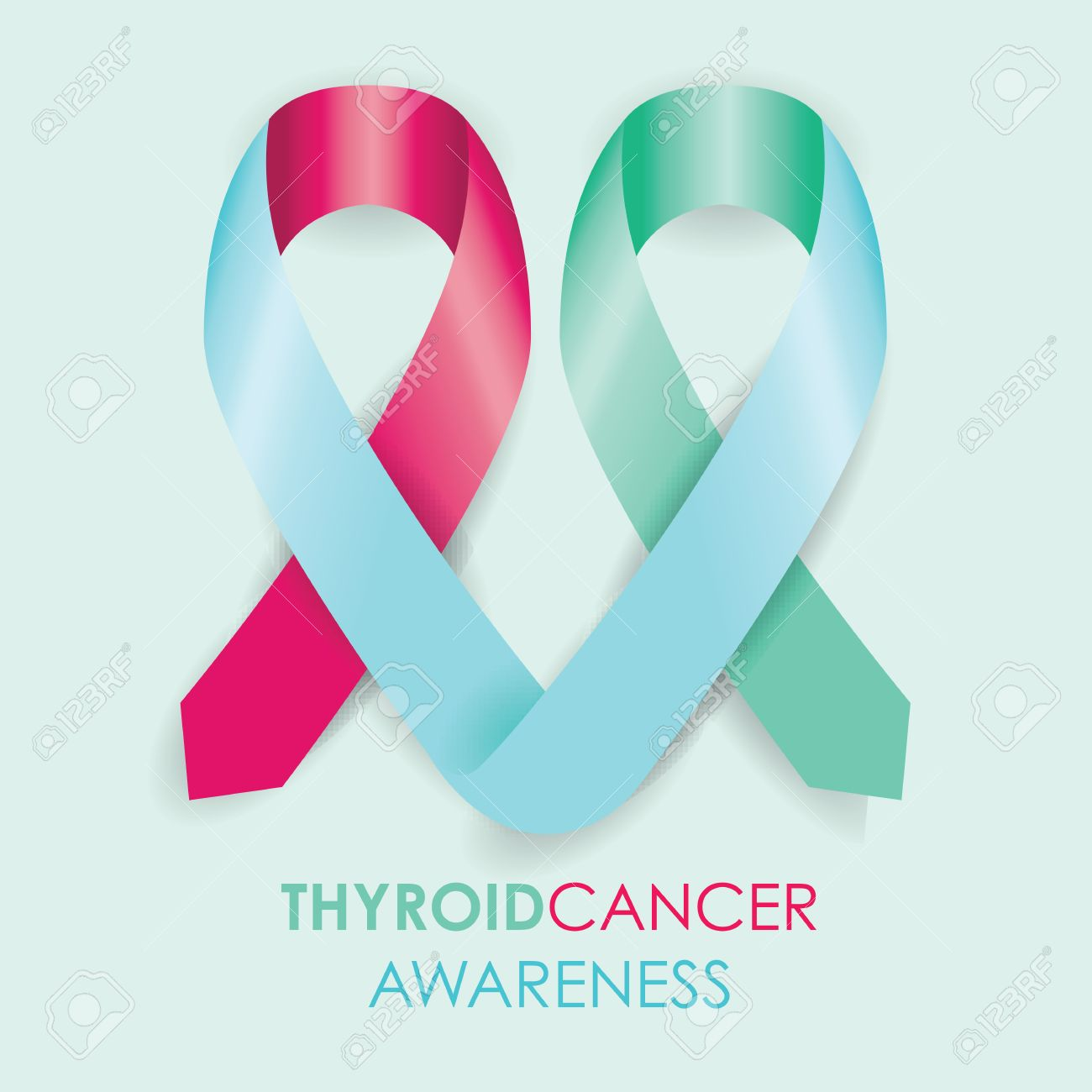 Thyroid Cancer Ribbon Royalty Free Cliparts Vectors And Stock