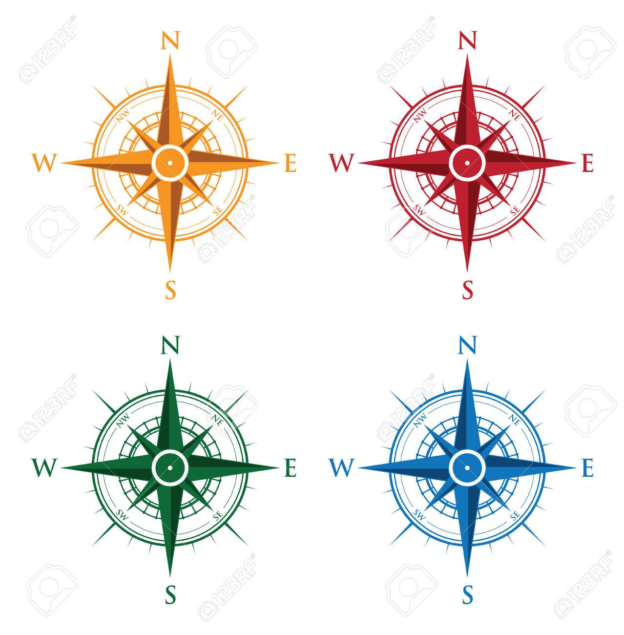 colourful set of compasses Banque d'images - 35972462