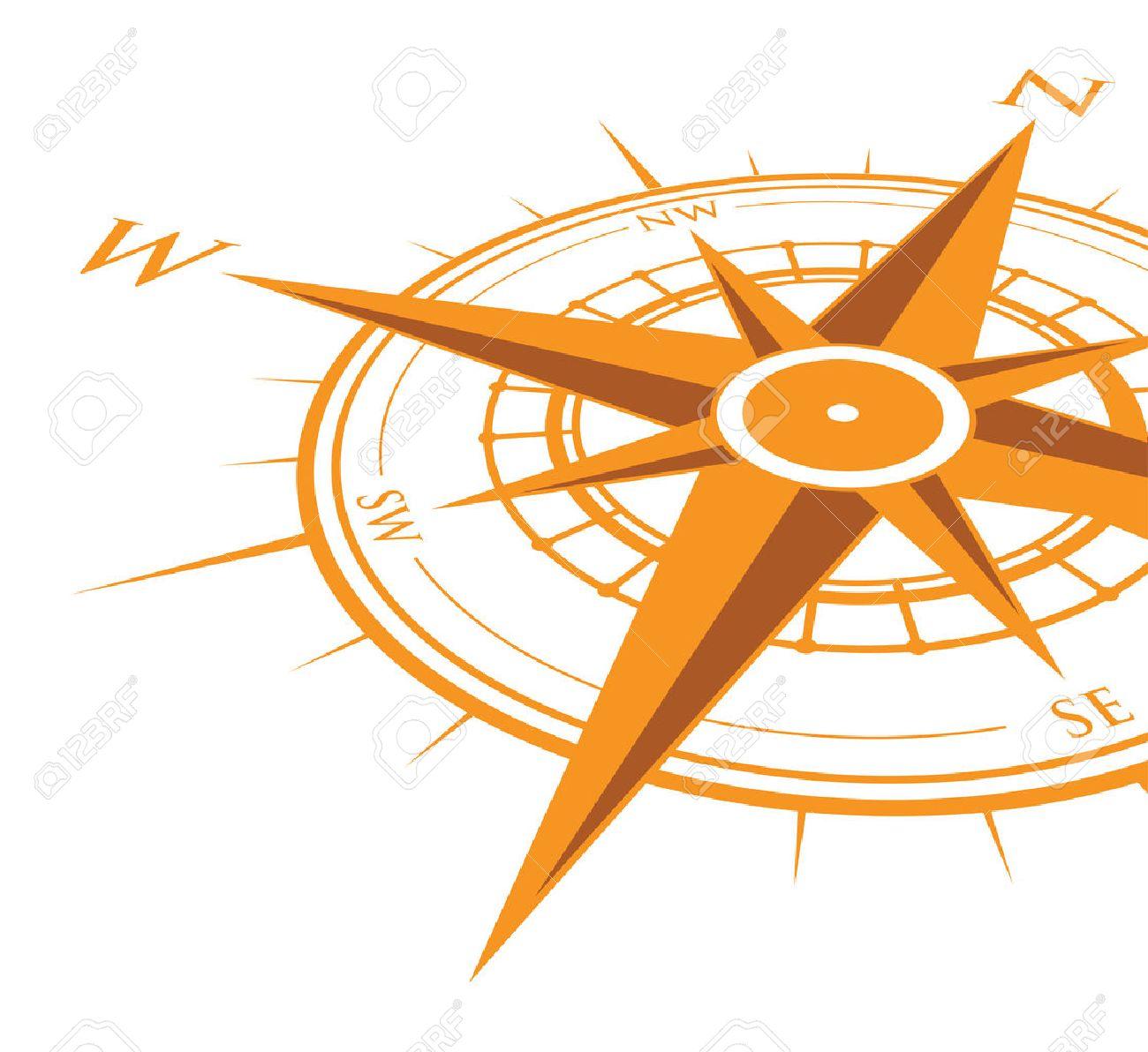 orange compass background Banque d'images - 36274074