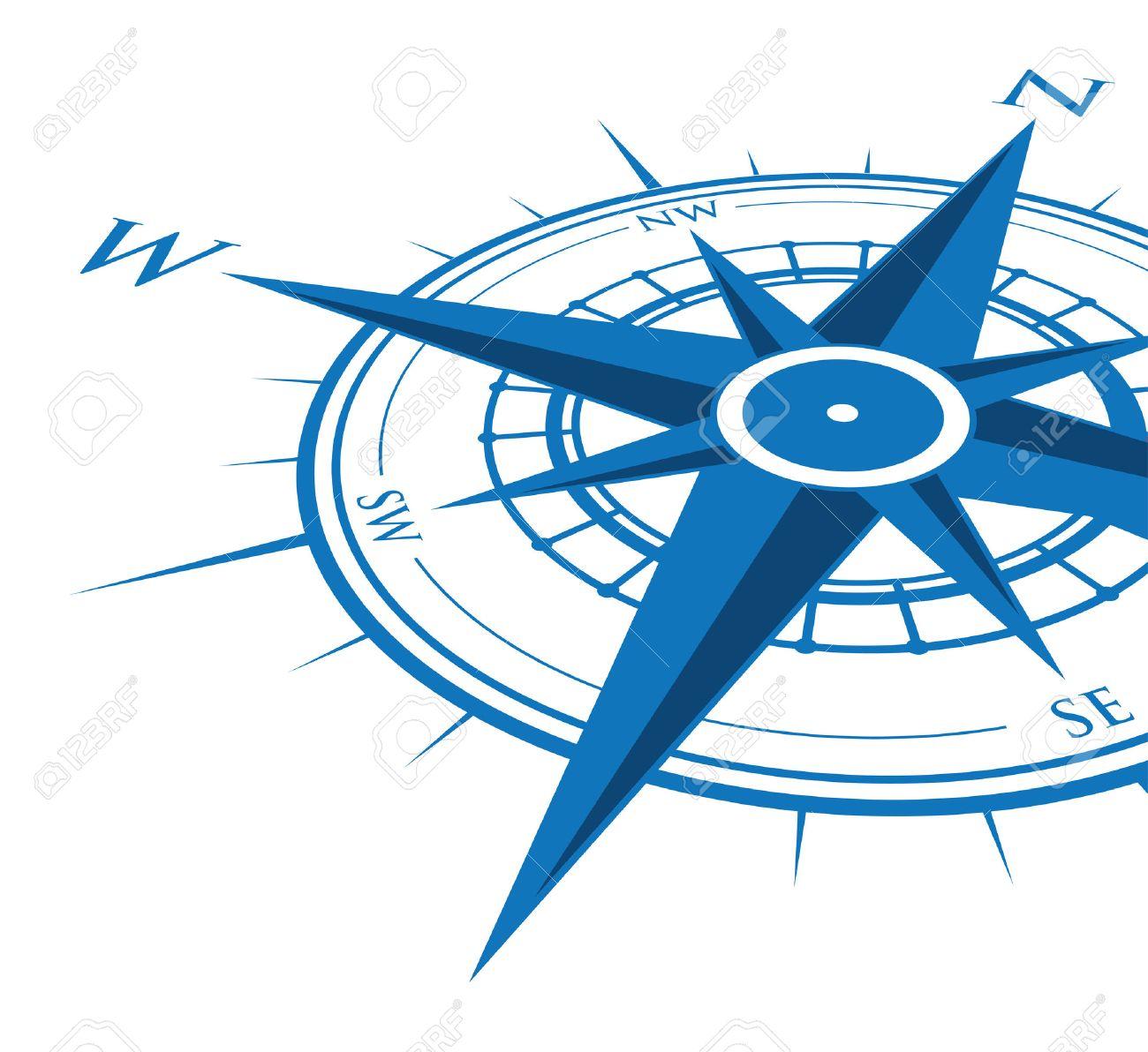 blue compass background - 36274866