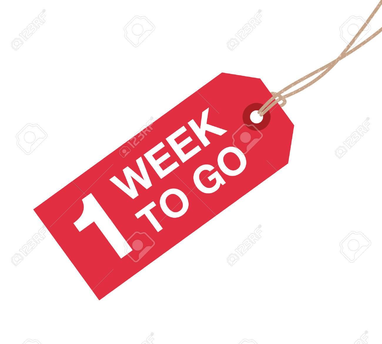 une semaine pour aller signe Banque d'images - 37702467