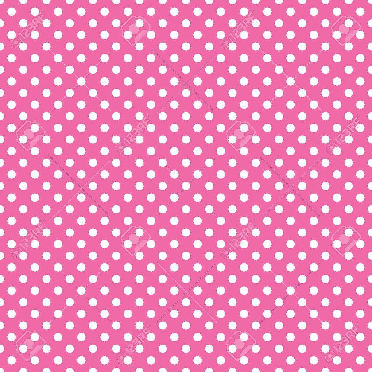 seamless pink polka dot background - 37702628