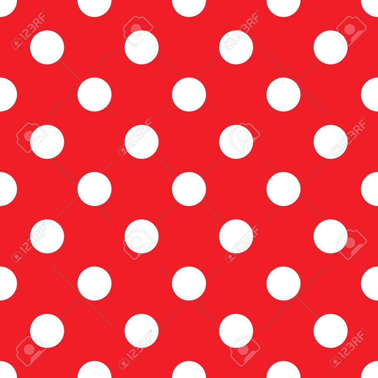 seamless red polka dot background - 37702632