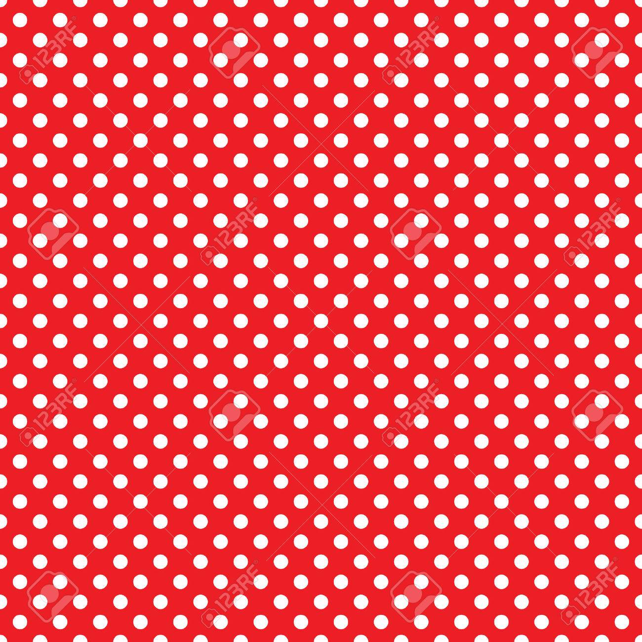 Seamless Red Polka Dot Background Royalty Free Cliparts Vectors