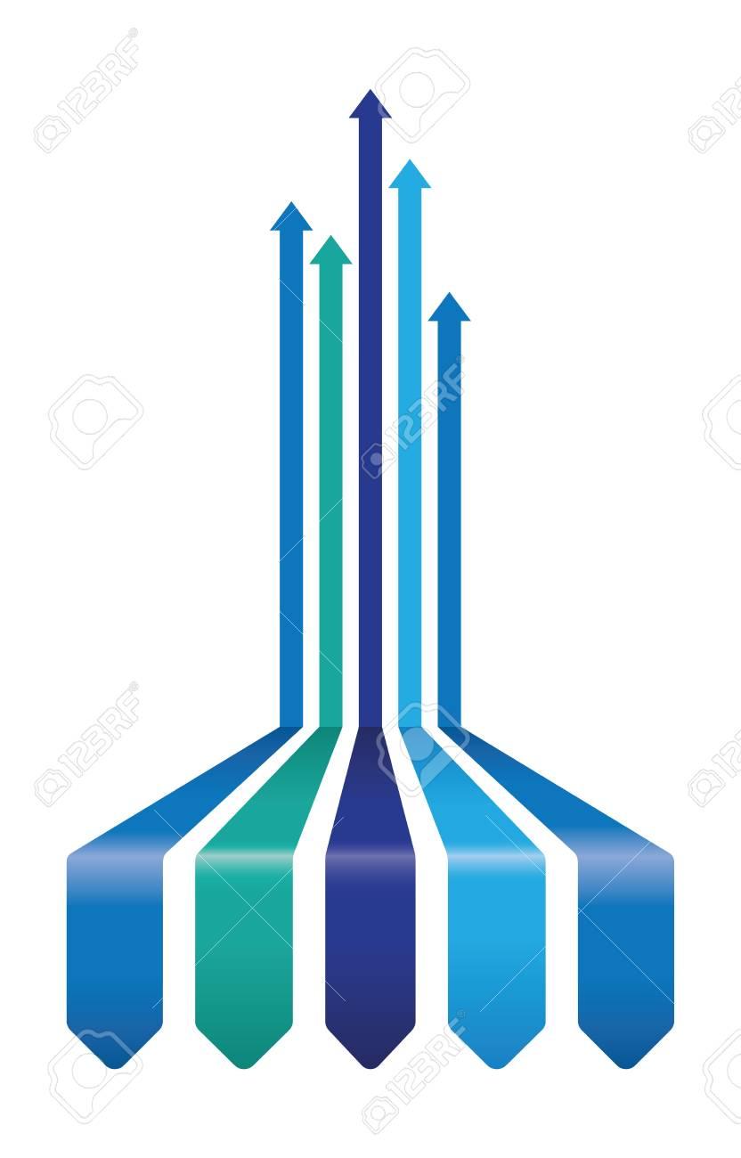 arrière-plan de flèche abstraite Banque d'images - 38912117