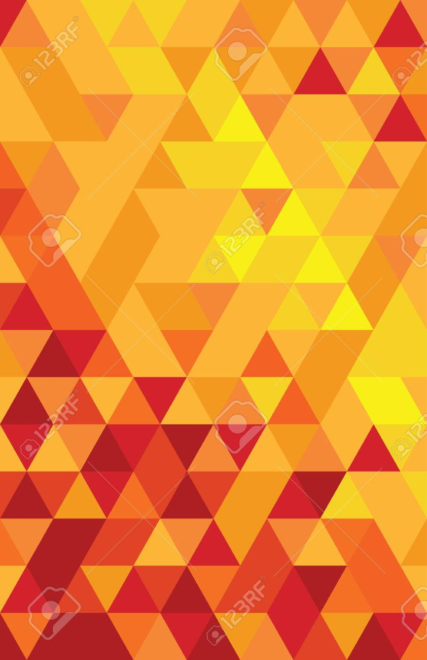 abstract colourful triangle background - 38912616
