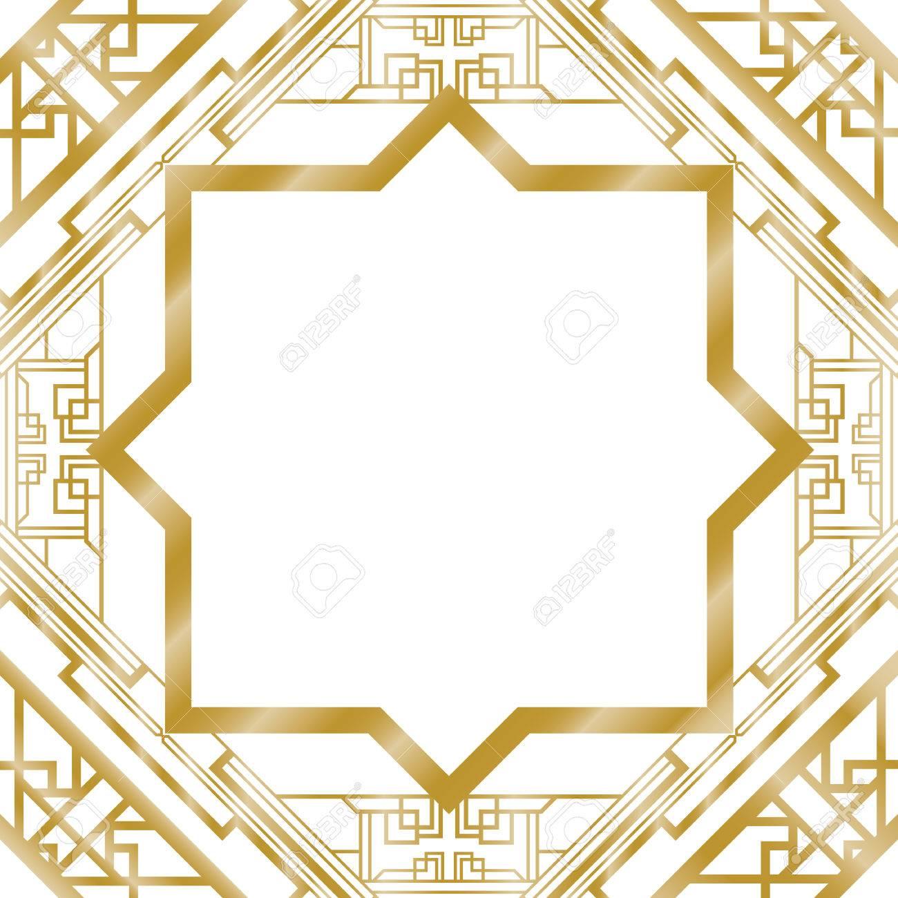 art deco abstract background royalty free cliparts vectors and rh 123rf com art deco vector borders art deco vector frames