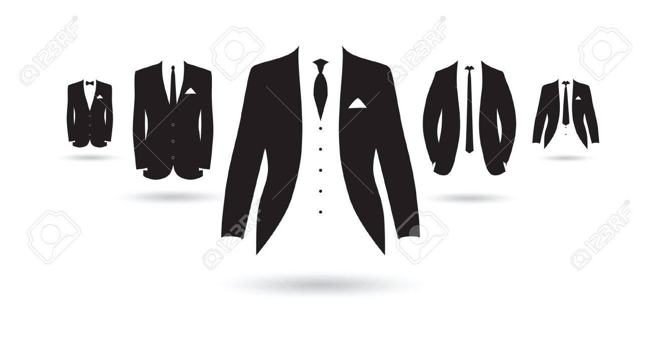 un ensemble de costumes noirs et blancs Banque d'images - 41179468