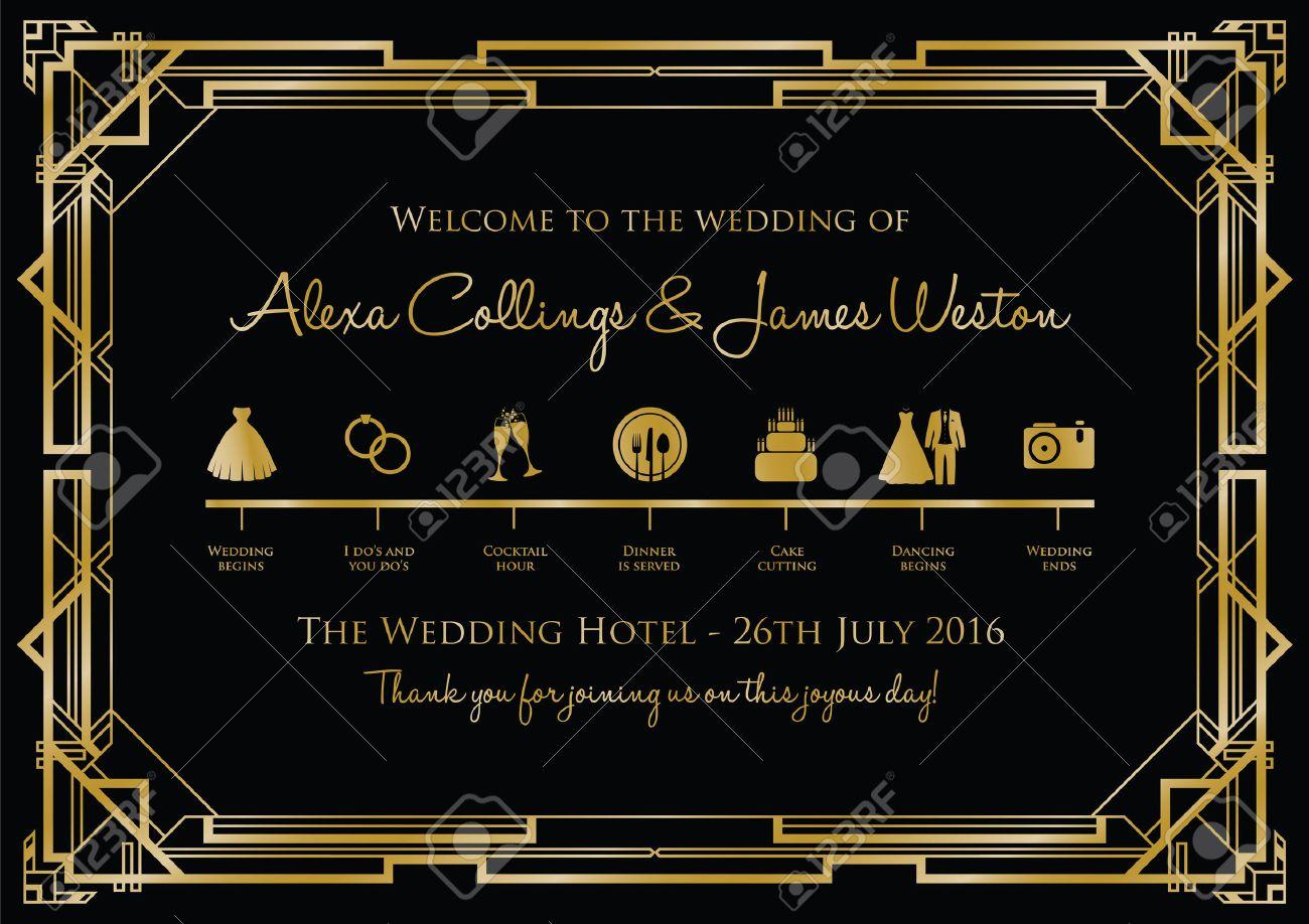 wedding timeline background gatsby - 46673382