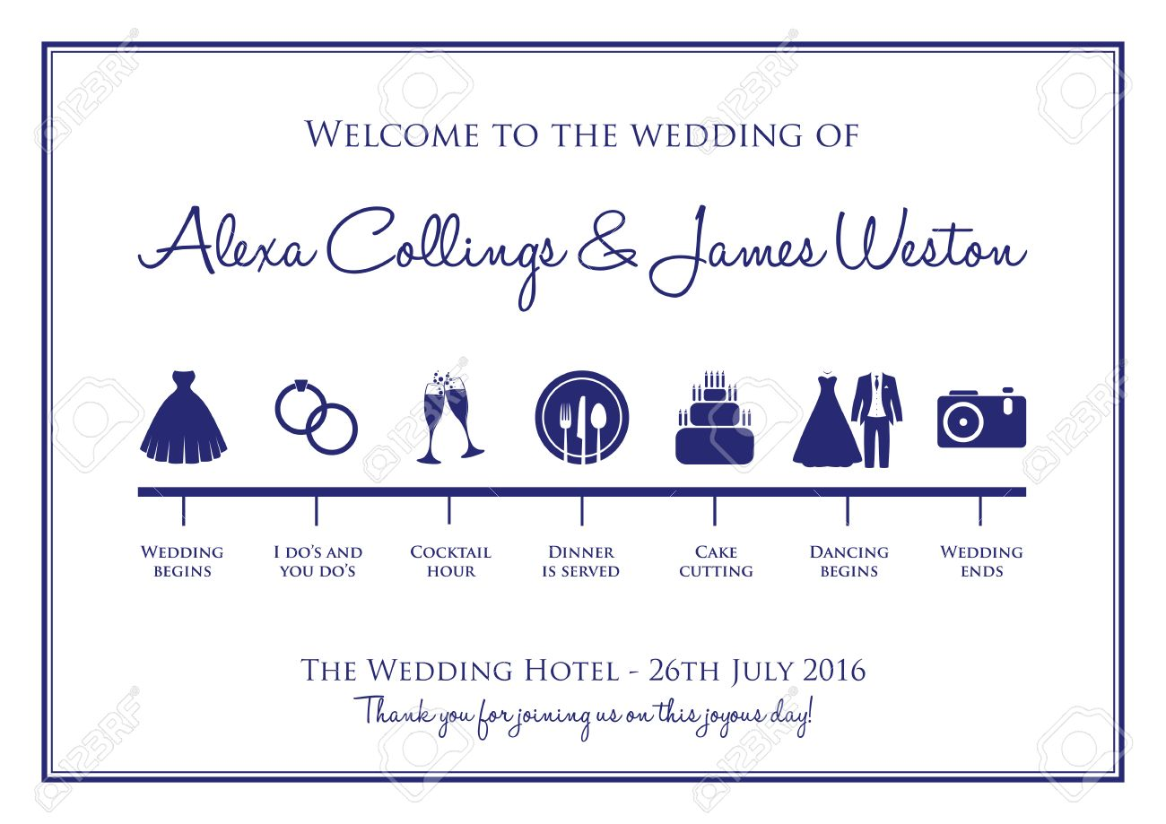 wedding timeline background royalty free cliparts vectors and