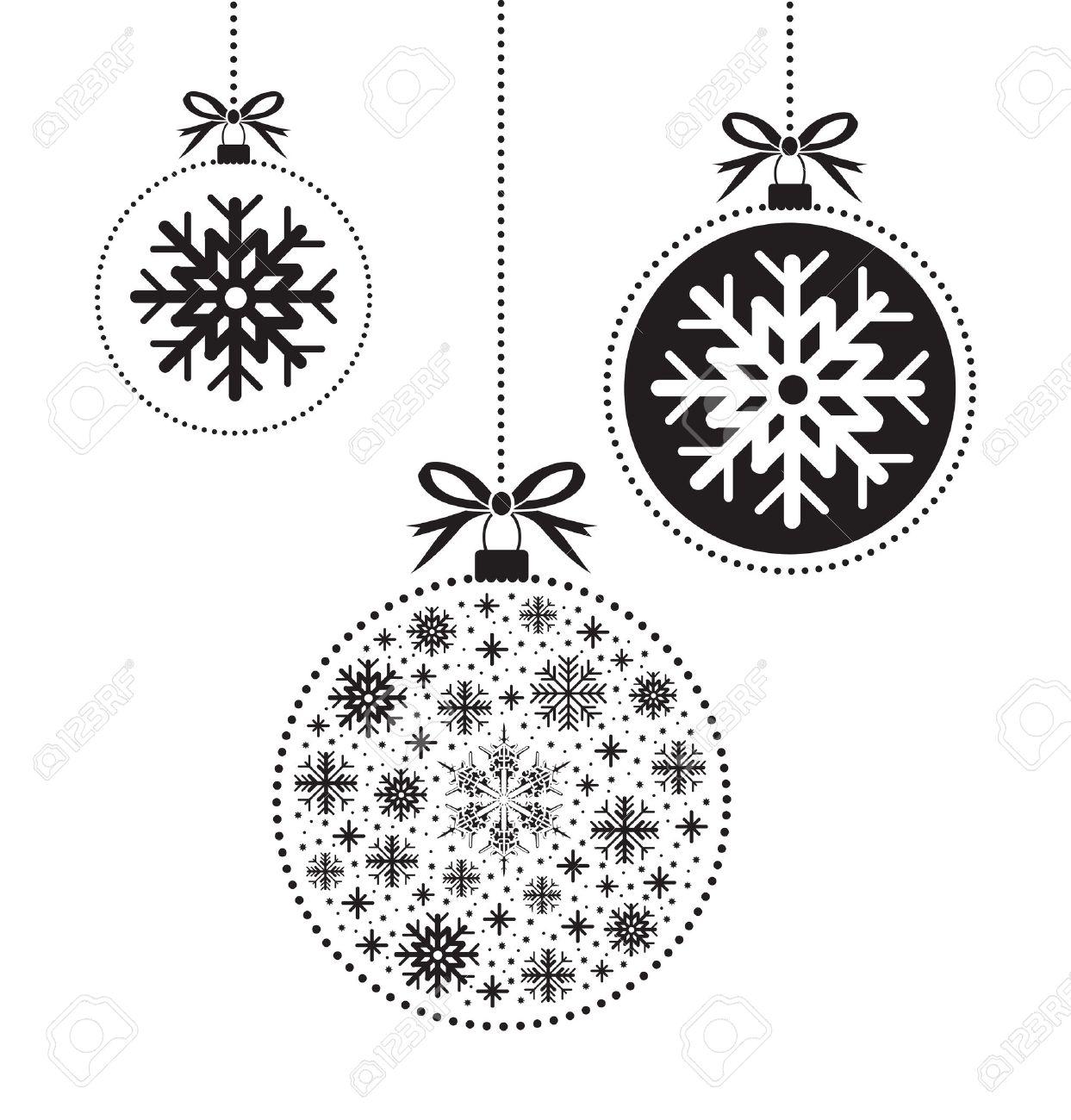 noir et blanc noël balle balle Banque d'images - 49813449
