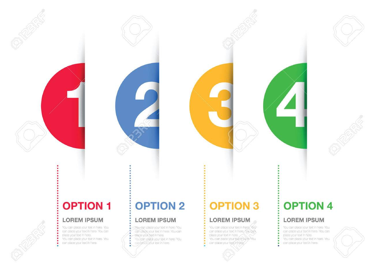 multi coloured numbered option background - 49475248