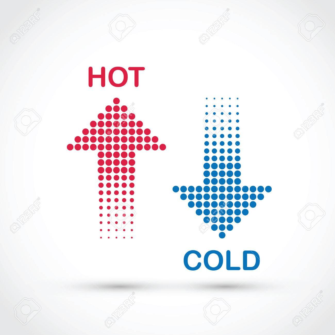 le chaud et le froid Banque d'images - 49813635