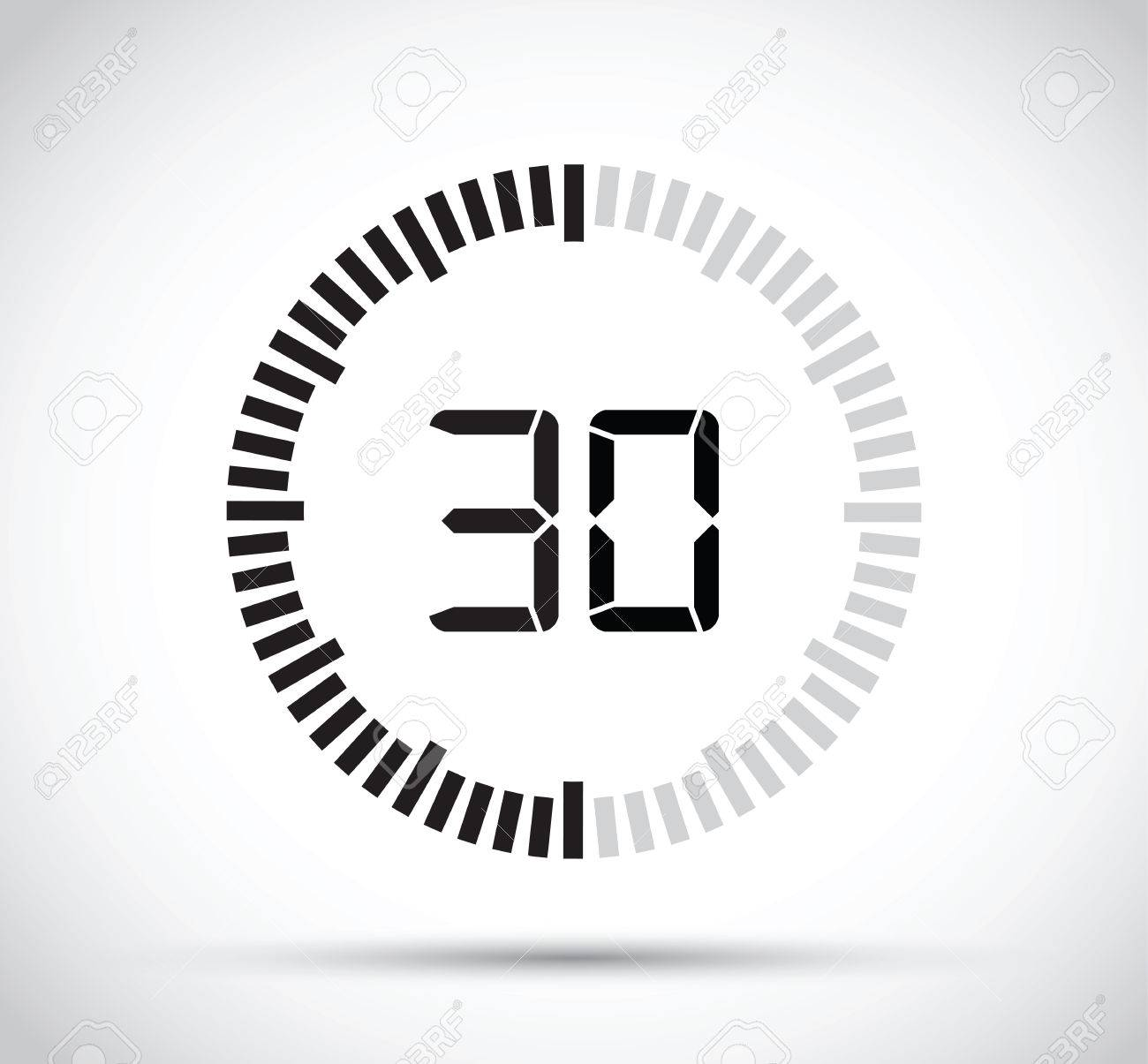 30 second timer royalty free cliparts vectors and stock